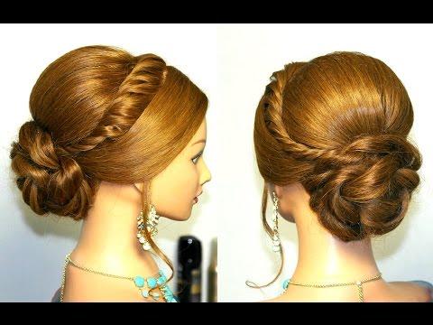 Wedding prom updo, hairstyles for long hair. Свадебная прическа, прическа на выпускной