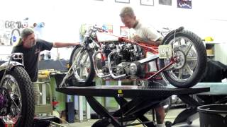 8. First Time Starting Dual Engine pre unit Triumph Land Speed Race Bike Lowbrow Customs