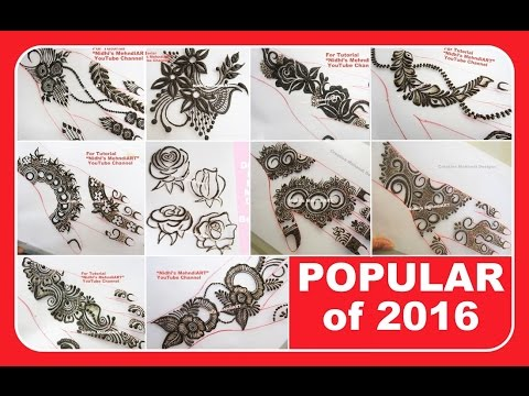 Video 2016 Popular DIY Simple Henna Mehndi Designs for Hands Collection download in MP3, 3GP, MP4, WEBM, AVI, FLV January 2017