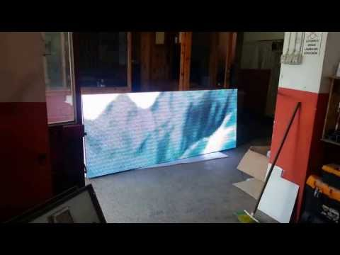 256x96 P10 RGB Led Ekran Kabin