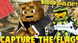 GUNS, EXPLOSIVES, HALO CTF MOD CHALLENGE 2vs2 (Halo Blood Gulch Map) | Minecraft - Mod Battle