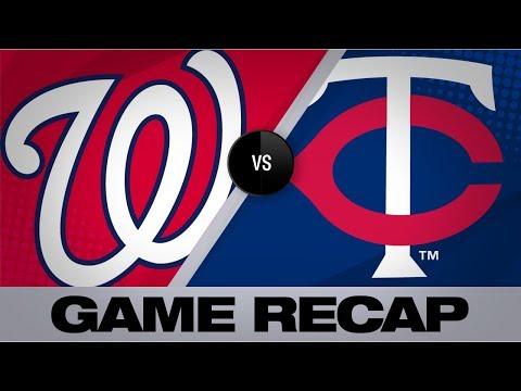 Video: Berrios' gem, Garver's HR propel Twins   Nationals-Twins Game Highlights 9/10/19
