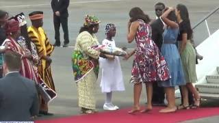 Michelle, Sasha and Malia – Special Girl – Power unit of Obama's Household – Visit Liberia to push for Girls education.