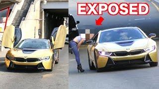 Zobaczyła złote BMW i8 i od razu zmiękła! Teraz blachary lecą tylko na najlepsze fury!