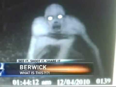 Scared News Girls on NBC 33 News weird creature caught on tape UFO & Alien