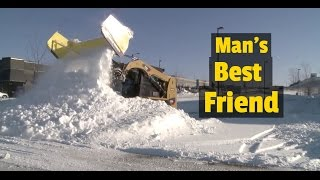 10. The Dumbest  Snow Plow Ever Made for a Skid Steer