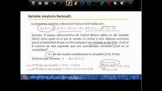 Umh1200 2012-13 Lec025 DISTRIBUCIONES DISCRETAS BERNOUILLI Y BINOMIAL