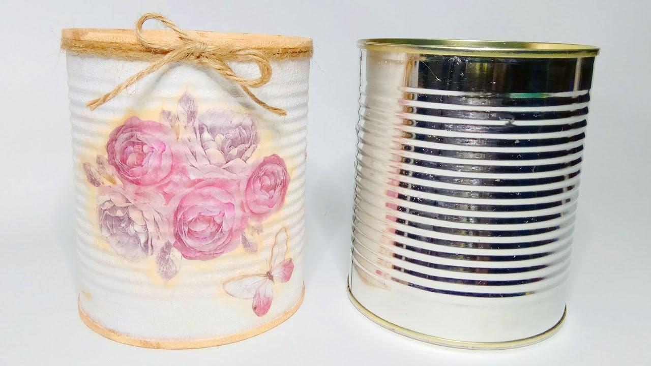 la tcnica del decoupage tambin para decorar latas