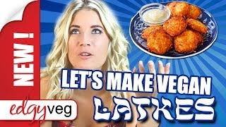 Vegan Potato Latkes / Pancakes Recipe לביבות תפוחי אדמה | Edgy Veg