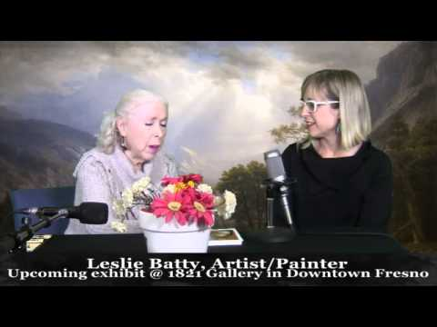 Artist Leslie Batty at 1821 Gallery in Downtown Fresno