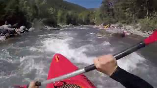 Kayak training - Ubaye river, Rapid class 4