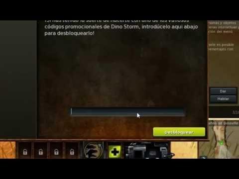código nuevo 175 monedas de oro/ouro Dino storm