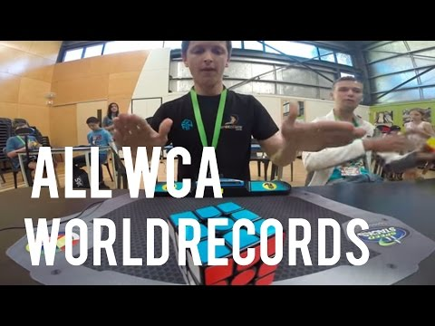 All WCA Rubik's Cube Worlds Records End Of 2016 (Singles)