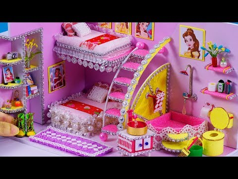 DIY Miniature Dollhouse Bathroom and Bedroom ~ Belle (Beauty and the Beast) Room Decor , shoes #45