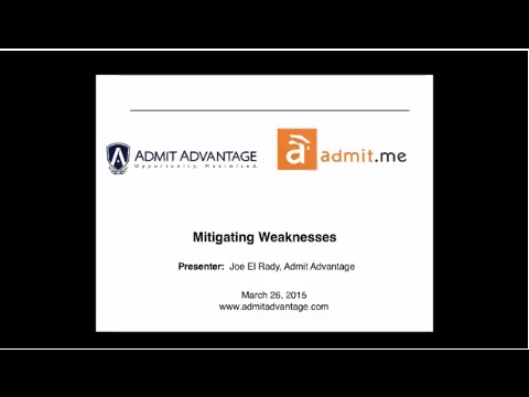 Mitigating Your MBA Weakness
