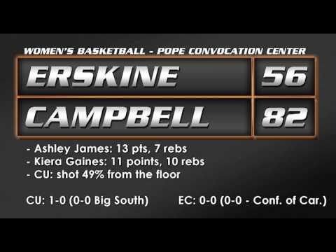 CU Women's Basketball vs. Erskine