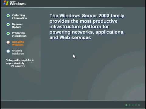 windows Server 2003 Installation
