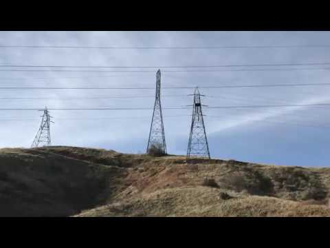 Hiking among the powerlines in Southern California