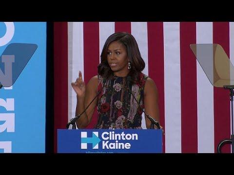 Η Μισέλ Ομπάμα καλεί τους Αμερικανούς να ψηφίσουν την Χίλαρι Κλίντον