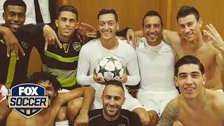 Ozil celebrates his hat trick in style by FOX Soccer