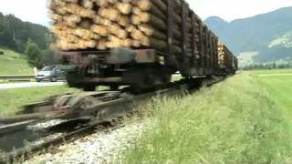 Fugen Austria  city pictures gallery : Narrow Gauge freight Train Zillertalbahn at Fugen,Austria!!!