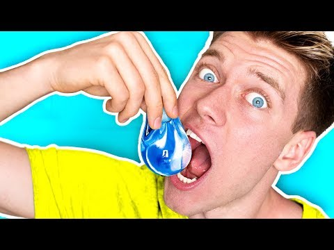 DIY Edible Water Bottle YOU CAN EAT!!!!! *NO PLASTIC* Learn How To Make The Best DIY Liquid Food (видео)