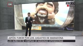 Japón: Pasión por los juguetes de Maradona