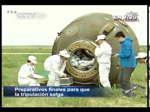 CHINA Shenzhou-10 Spacecraft Returns to Earth PARTE1