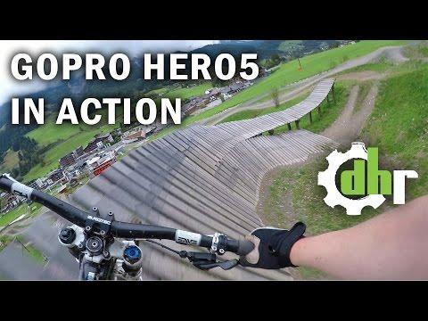 GoPro Hero5 Black: Mountain Bike Park Leogang. Video Stabilization, Wind Noise (видео)