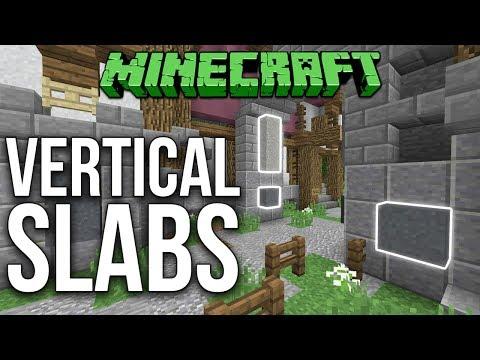 Minecraft 1.12 Vertical Slabs (Vanilla Minecraft) Tutorial