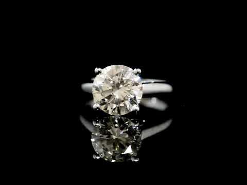 經CGL鑑定3.50克拉鑽石戒指