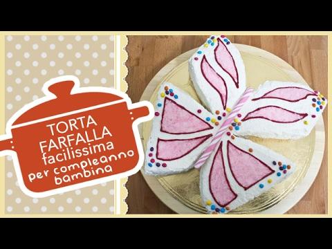 torta farfalla per compleanno bambina - ricetta