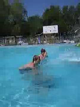 crash in the swimming pool