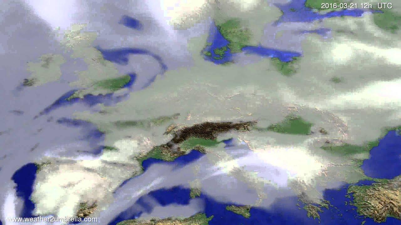 Cloud forecast Europe 2016-03-19
