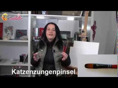 2.Gratis-Videokurs – Die Pinsel – Einfach Malen lernen Schritt für Schritt…