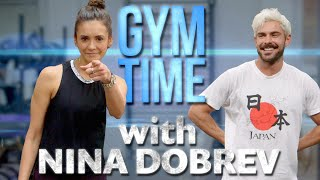 Video Nina Dobrev Crushes my Workout | Gym Time w/ Zac Efron MP3, 3GP, MP4, WEBM, AVI, FLV Mei 2019