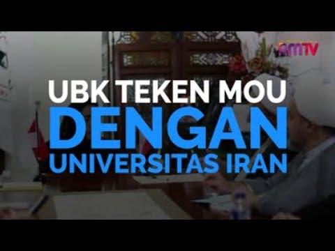 UBK Teken MoU Dengan Universitas Iran