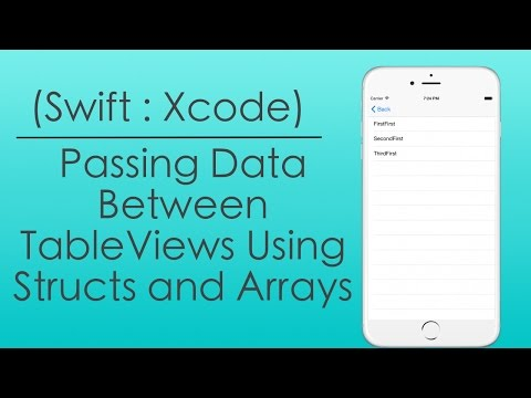 Passing Data Between Table Views Using Structs…