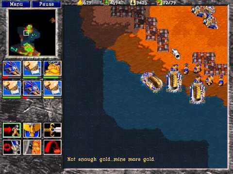 Warcraft 2: Tides of Darkness Full Walkthrough Human Mission 13: Assault on Blackrock Spire