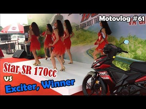 Lái thử SYM Star SR 170cc - Đối thủ cạnh trạnh của Exciter, Winner | Motovlog 61 - Thời lượng: 6 phút, 49 giây.