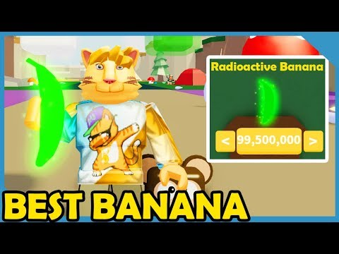 Buying The Max Power Radioactive Banana In Roblox Banana Simulator