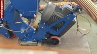 Floor shot blasting machine youtube video