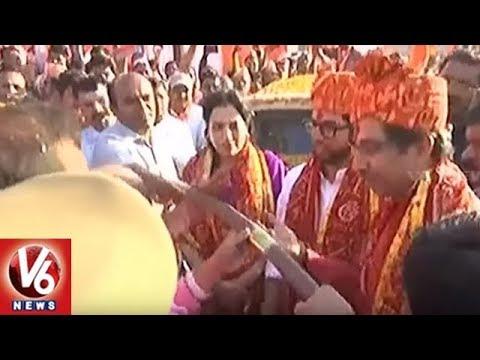 Ram Mandir: Shiv Sena Chief Uddhav Thackeray Arrives In Ayodhya | V6 News