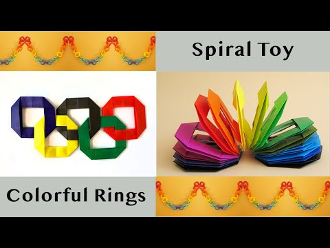 Origami Slinky and Decorative Chain :: Juguete espiral y cadena