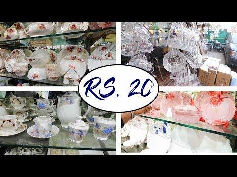 Crockery Wholesale Market Near Sadar Market Delhi | Azad Market Delhi