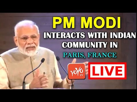 LIVE: PM Modi Interacts with Indian community in Paris, France | YOYO TV Channel