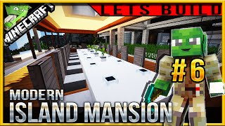 Minecraft 1.9 Modern Island Mansion Let's build (Jedi Mansion 3) E06 (dining room)