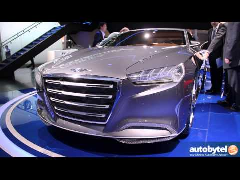 Hyundai HCD-14 Genesis Concept At the 2013 Detroit Auto Show