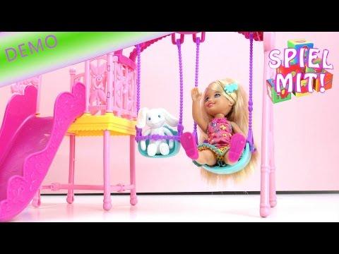 Barbie Chelsea Schaukel Spielset - Schaukeln mit Chelsea und Plüschhase
