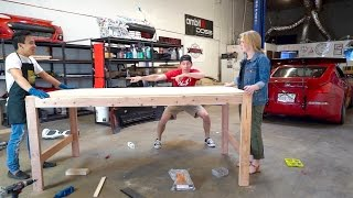 Dream Garage New Addition - Building a HUGE Table! by TJ Hunt